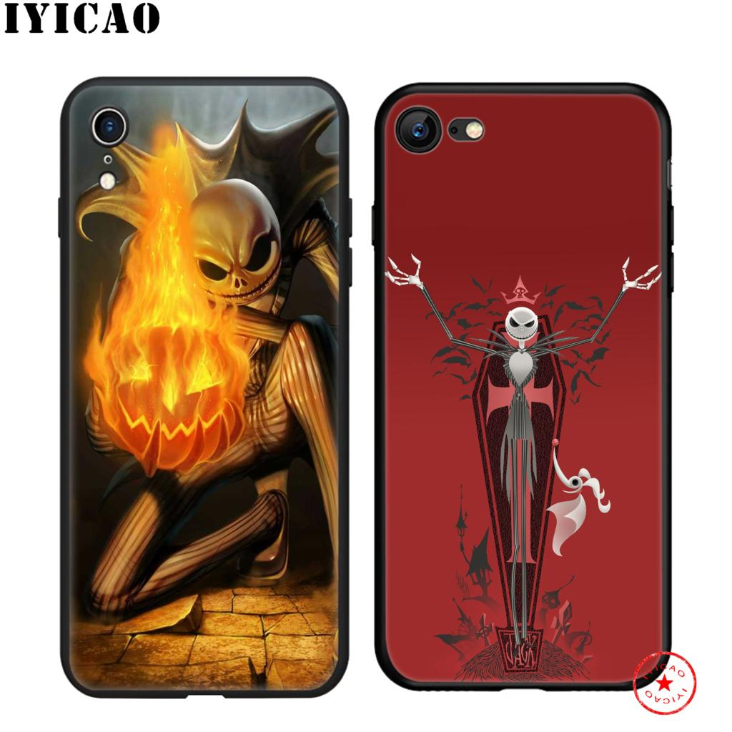 IYICAO Nightmare Before Christmas Soft Black Silicone Case for iPhone 11 Pro Xr Xs Max X or 10 8 7 6 6S Plus 5 5S SE in Fitted Cases from Cellphones Telecommunications
