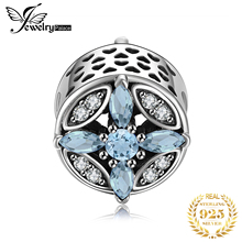 Jewelrypalace 925 Sterling Silver Crystal Star Beads Charms Fit Bracelets Gifts For Women Anniversary Gifts Fashion Jewelry недорого