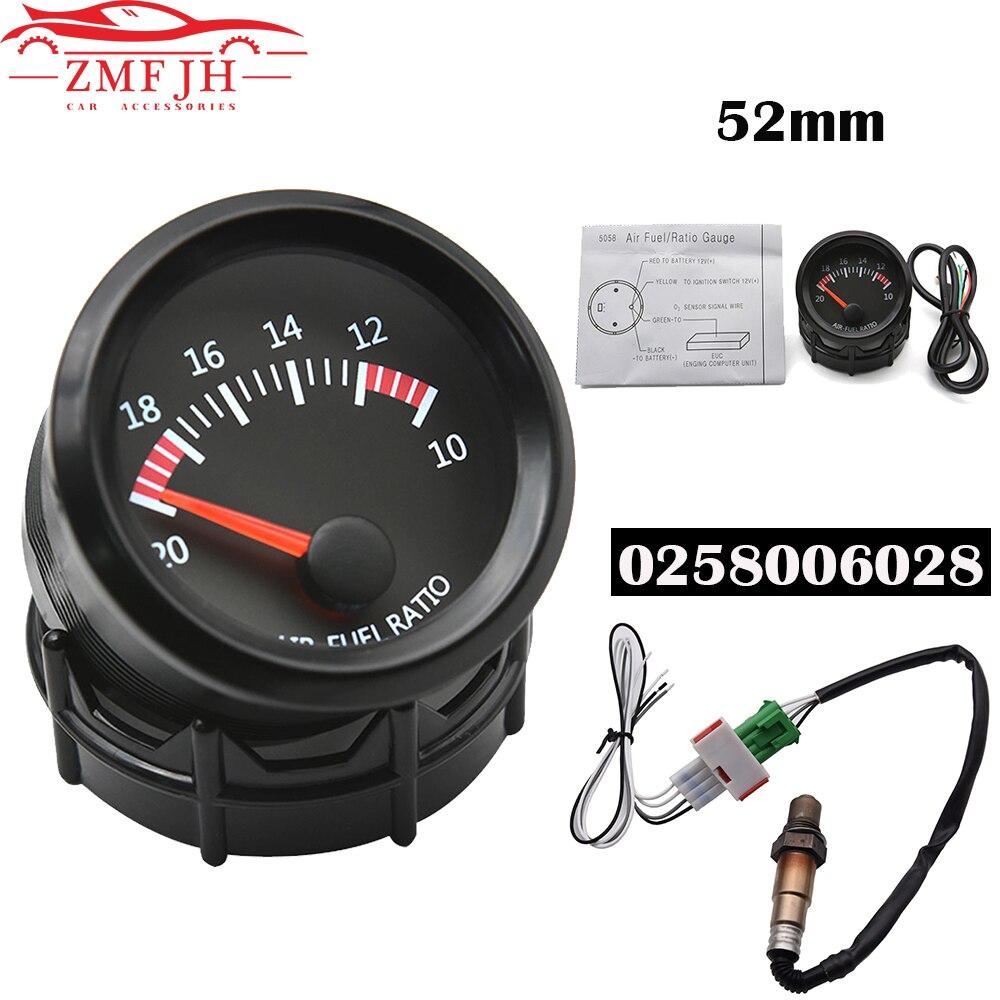Universal 52mm Digital Air Fuel Ratio Gauge With Narrowband O2 Oxygen Sensor Car Gauge Fit for 12V Car OEM: 0258006028 6238SW