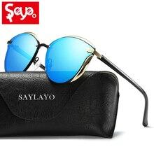 SAYLAYO 2019 New Cat Eye Sunglasses Women Fashion Polarized UV400 Sun Glasses Female Vintage Shades Oculos de sol Feminino