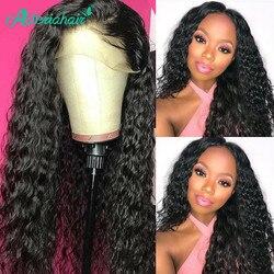 Asteria Water Wave-pelucas de cabello humano con encaje Frontal 13x4 para mujeres negras, pelucas de cabello humano brasileño, cabello Remy prearrancado para bebés
