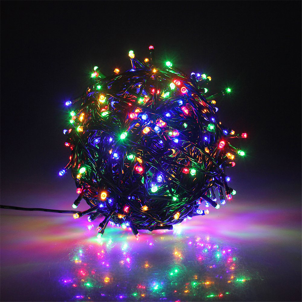 10M 20M Waterproof Christmas Led String Light 8 Modes Black Holiday Lighting Outoor Decoration For Tree,Park,Garden,Roof