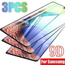 3 adet 9D koruyucu temperli cam için Samsung Galaxy A21S S21 artı S20 FE A51 A71 A52 A72 A12 A70 a31 A50 A10S ekran koruyucuları