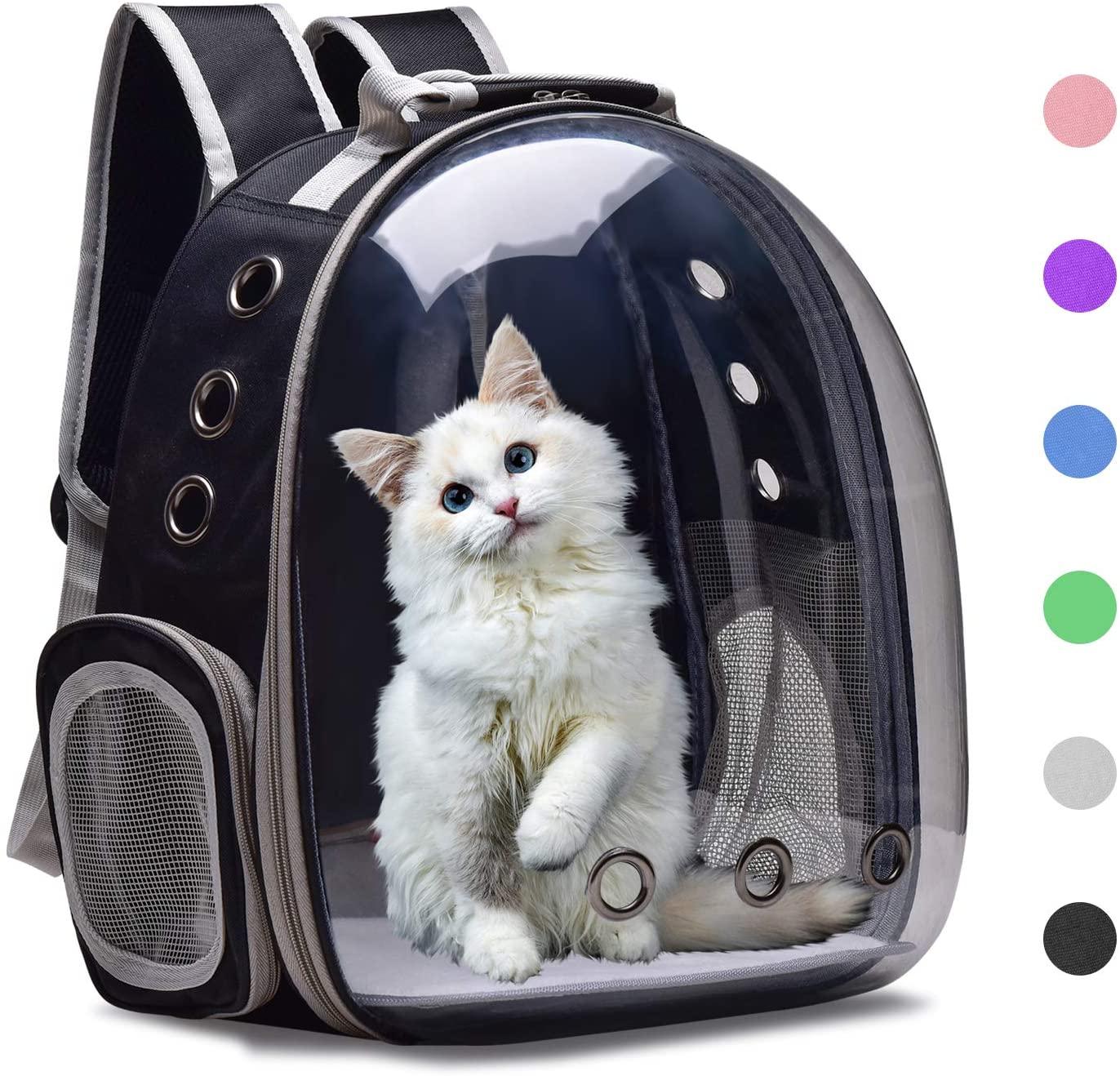 Cat Carrier Рюкзак дышащие прозрачные щенок собака пакет из пузырчатой пленки космическая капсула ПЭТ перевозки котенок, щенок, домашнее животн...