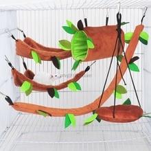 Hammock Hamster Sugar-Glider Plush Tunnel Swing Hanging-Bed Pet-Cage Hedgehog Squirrel