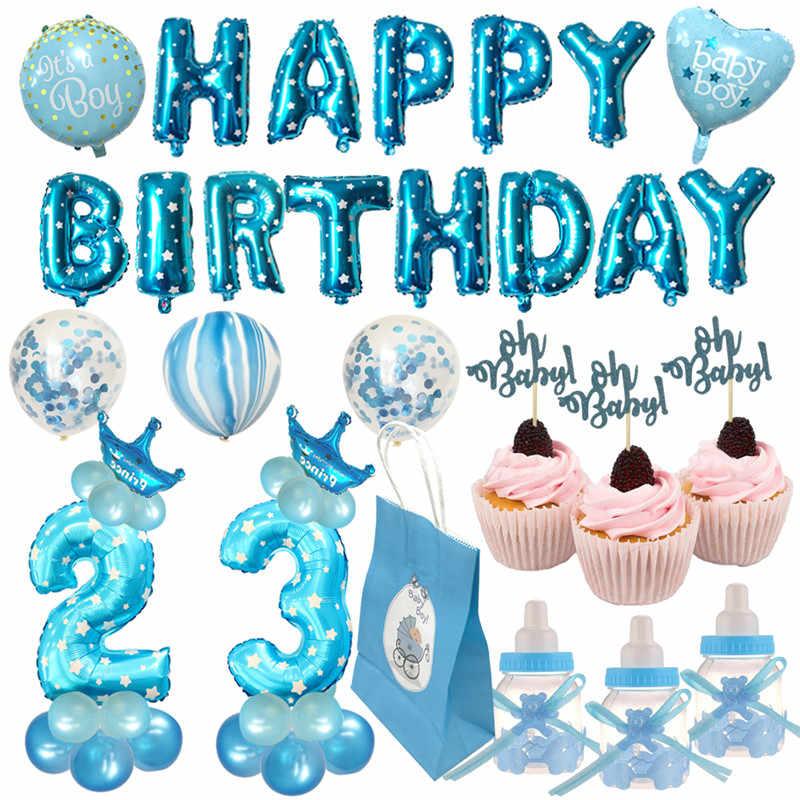 Chicinlife мальчик девочка 2 3 фольгированный шар с днем рождения шары 2 3 года День Рождения украшения Дети День Рождения Декор