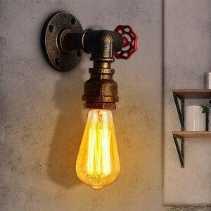 Image 2 - الأنابيب الصناعية الجدار مصباح السرير الجانب مصابيح الرجعية vintage ريفي جدار ديكو الحديد أنبوب الحمام ضوء النحاس الشظية البخار فاسق نمط