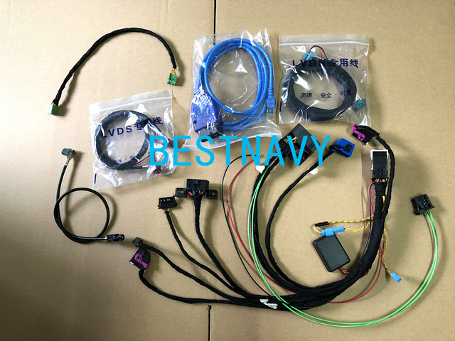Free shipping Wirings harness with CAS Emulator tester for BM W CCC CIC NBT EVO navigation systems power on bench all in one