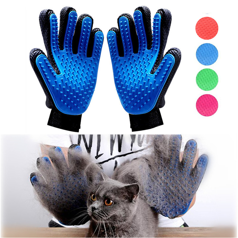 Hot Pet Dog Cat Grooming Brush Glove Pet Hair Deshedding Comb Brush Kitten Puppy Massage Washing Brush Glove for Animal Cat Dog(China)