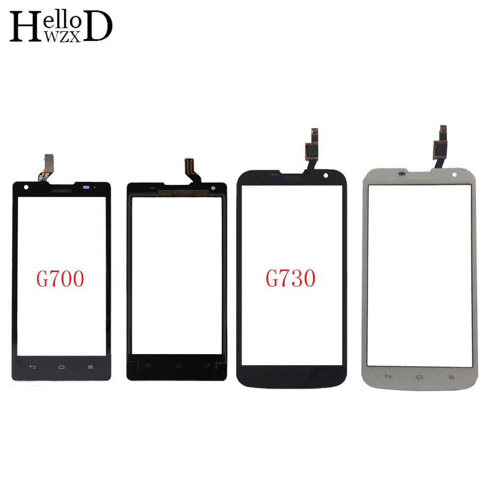 Mobile Touch Screen Digitizer Panel For HuaWei G700 G730 TouchScreen Lens Sensor Touch Screen Front Glass 3M Glue Wipes