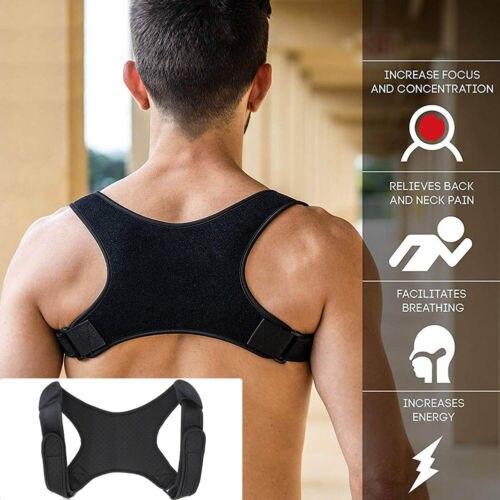 Nova postura corrector volta apoio cinto ombro bandagem corset volta ortopédico coluna postura corrector alívio da dor nas costas