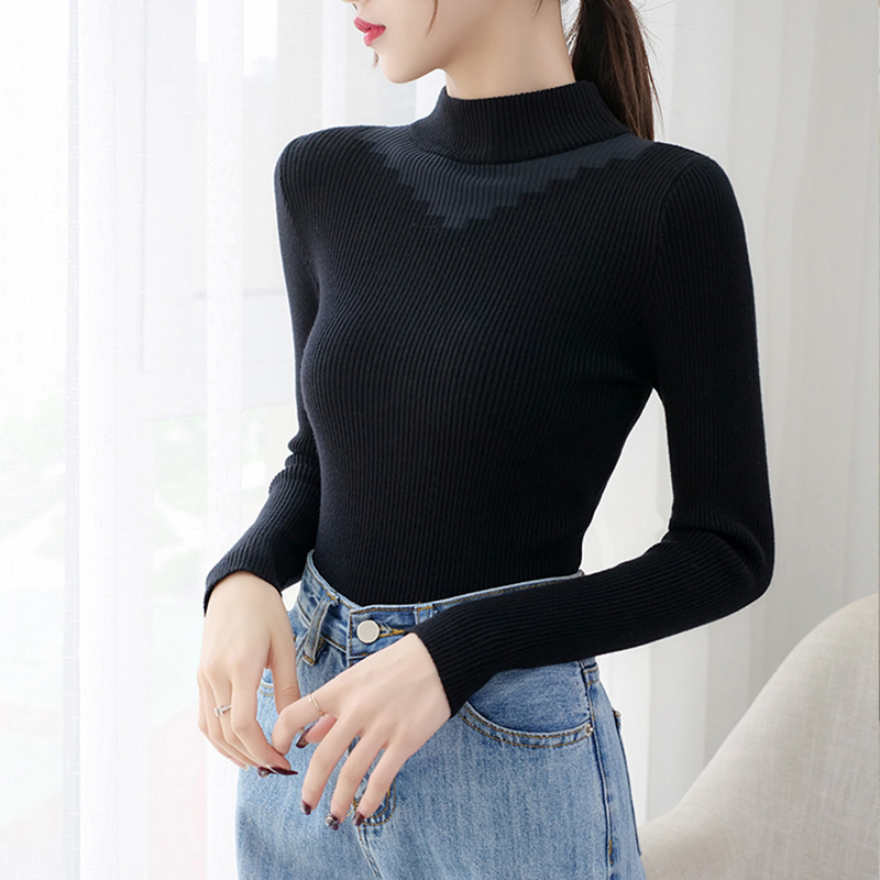 Gkfnmt Jumper Tops Sweater Female Pull Femme Winter Knitted Soft Turtleneck Tricot