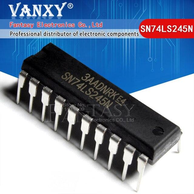 10PCS SN74LS245N DIP20 SN74LS245 DIP 74LS245N DIP 20 74LS245 HD74LS245P new and original IC