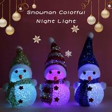 Creative Cute Snowman Led Light Kids Toys For Girls Bedroom