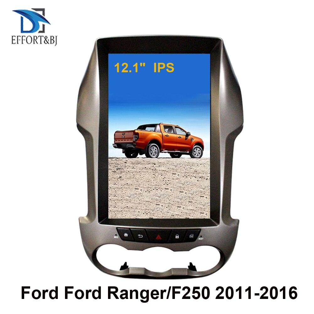 12,1 дюймовый вертикальный экран Tesla Android 9,0 Голосовое управление автомобильный радиоплеер Gps для Ford Ranger/F250 2011-2016 Автомобильный GPS-навигатор