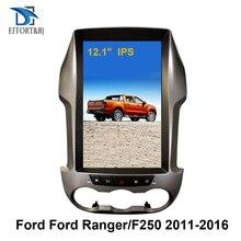 """Autoradio Android 12.1, écran Vertical 9.0 """", Navigation Gps, contrôle vocal, Tesla, lecteur pour voiture Ford Ranger/F250 (2011 – 2016)"""