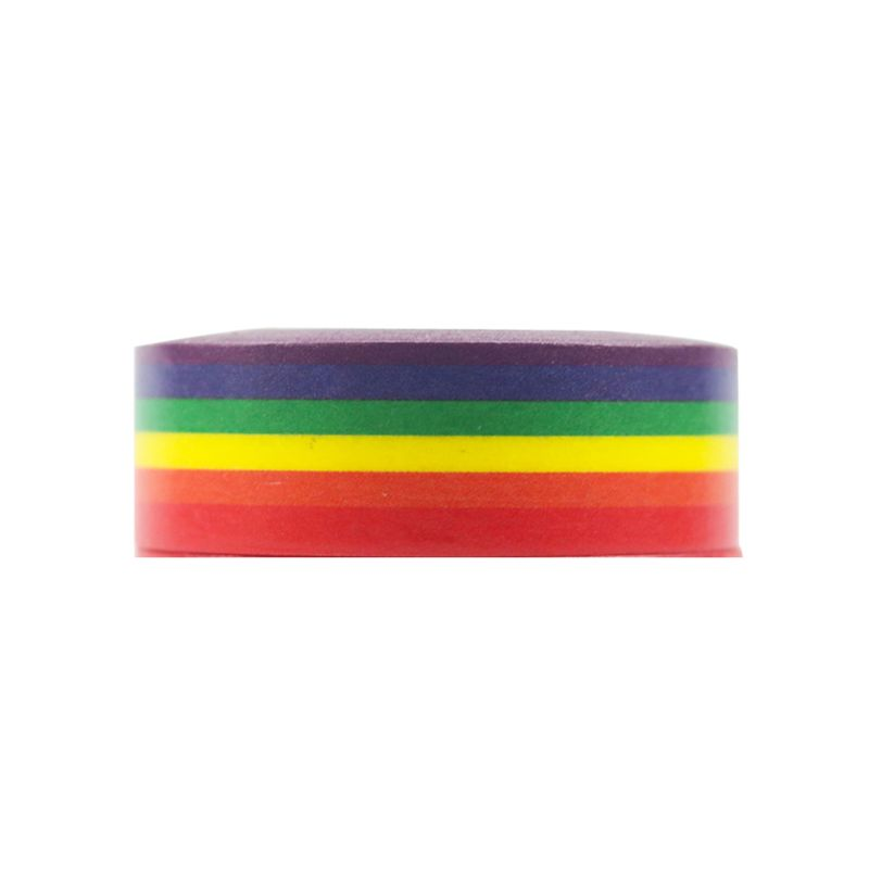 1PC Rainbow Washi Tape School Supplies Stationery Tape Office Stationery 15mm