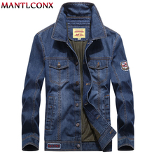MANTLCONX 2019 Autumn Mens Denim Jacket Trendy Fashion Jean Jackets Male Casual Windbreaker Cowboy Coats 5XL