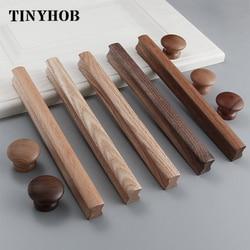 Натуральные Деревянные мебельные ручки для кухни шкаф дверные ручки ящик тянет Бук деревянная ручки для мебельная фурнитура