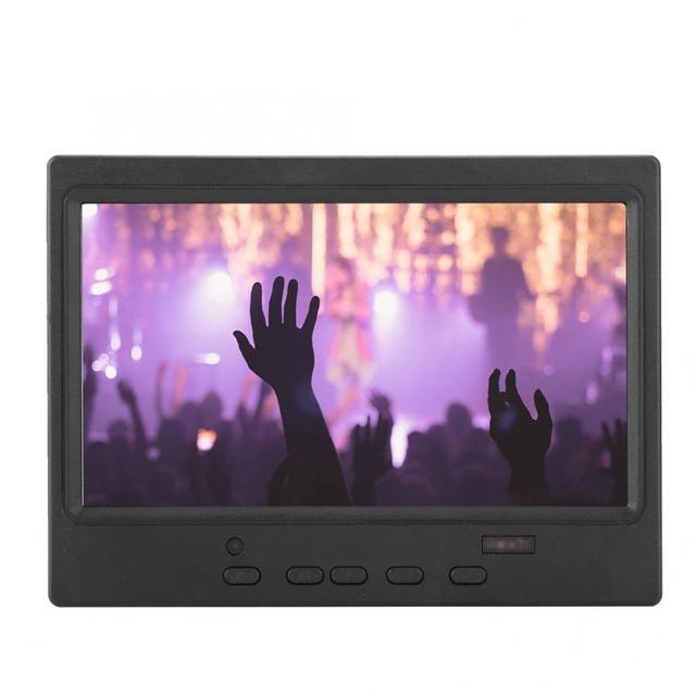 Moniteur Portable 7 pouces 1024x600 16:9 Support daffichage multifonctionnel entrée HDMI/VGA/AV pour Raspberry Pi pour écran de voiture/CCTV