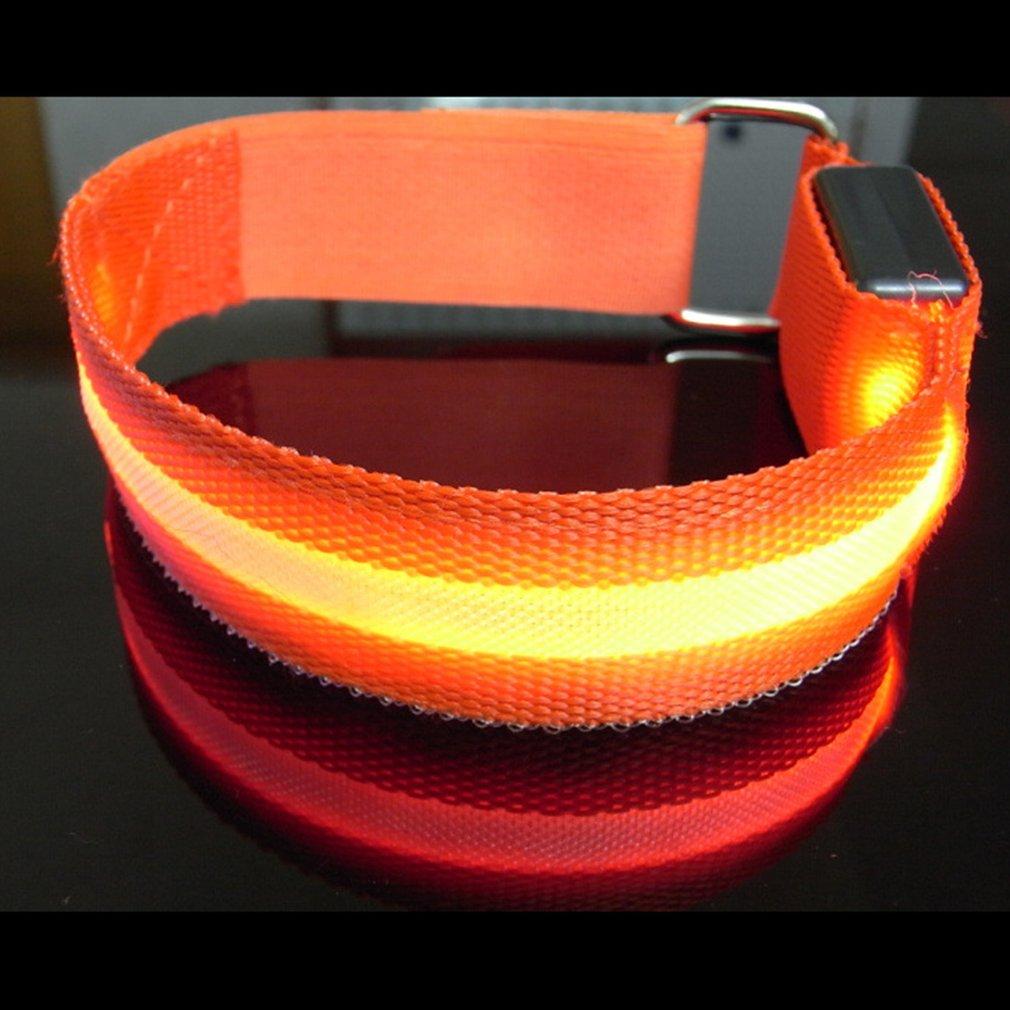 Night Running Arm Warmer Belt Bike LED Luminous Armband LED Safety Sports Reflective Belt Strap Snap Wrap Armband