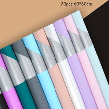 60*60cm 20pcs Two-color Eurasian Flower Wrapping Paper Flowing Gold Rose Bouquet Packaging Wholesale