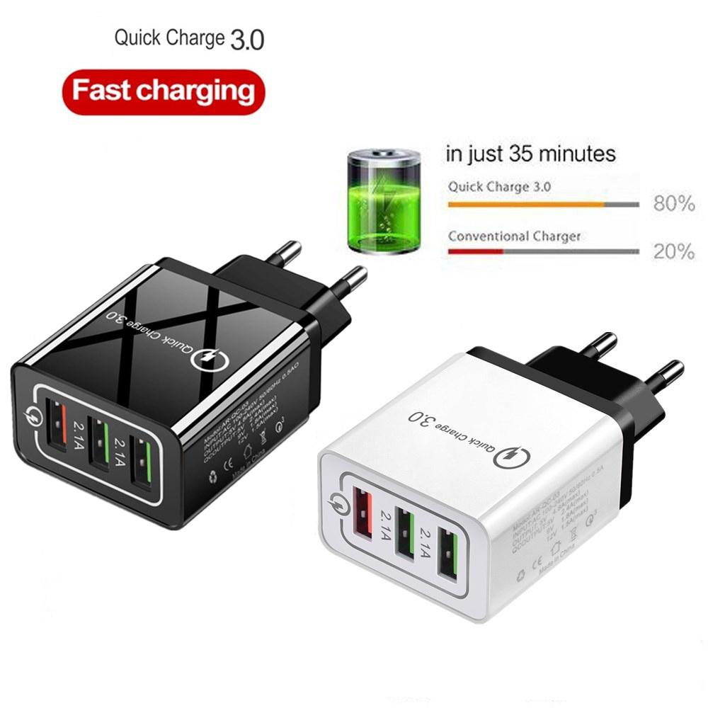 Image 4 - Quick Charge 3.0 USB Charger for iPhone XR 11 Pro Max iPad EU/US Wall Fast Charging Mobile Phone Charger for Huawei Mate 30 Pro-in Mobile Phone Chargers from Cellphones & Telecommunications