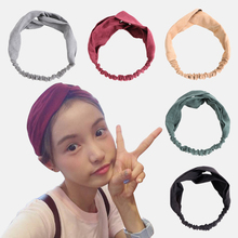 Women Hairband Solid Color Headband Suede Elastic Cross Knot Classic Headwear For Women Girls Head Wrap classic solid color leaf hairgrip for women