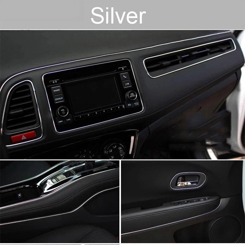 Universal Car Moulding Decoration Flexible Strips 5M/3M/1M Interior Auto Mouldings Car Cover Trim Dashboard Door Car-styling 4