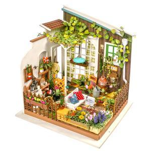 Image 5 - Robotime لتقوم بها بنفسك دمية مصغرة خشبية 1:24 دمية اليدوية مجسم لمنزل بناء مجموعات لعب للأطفال الكبار انخفاض الشحن