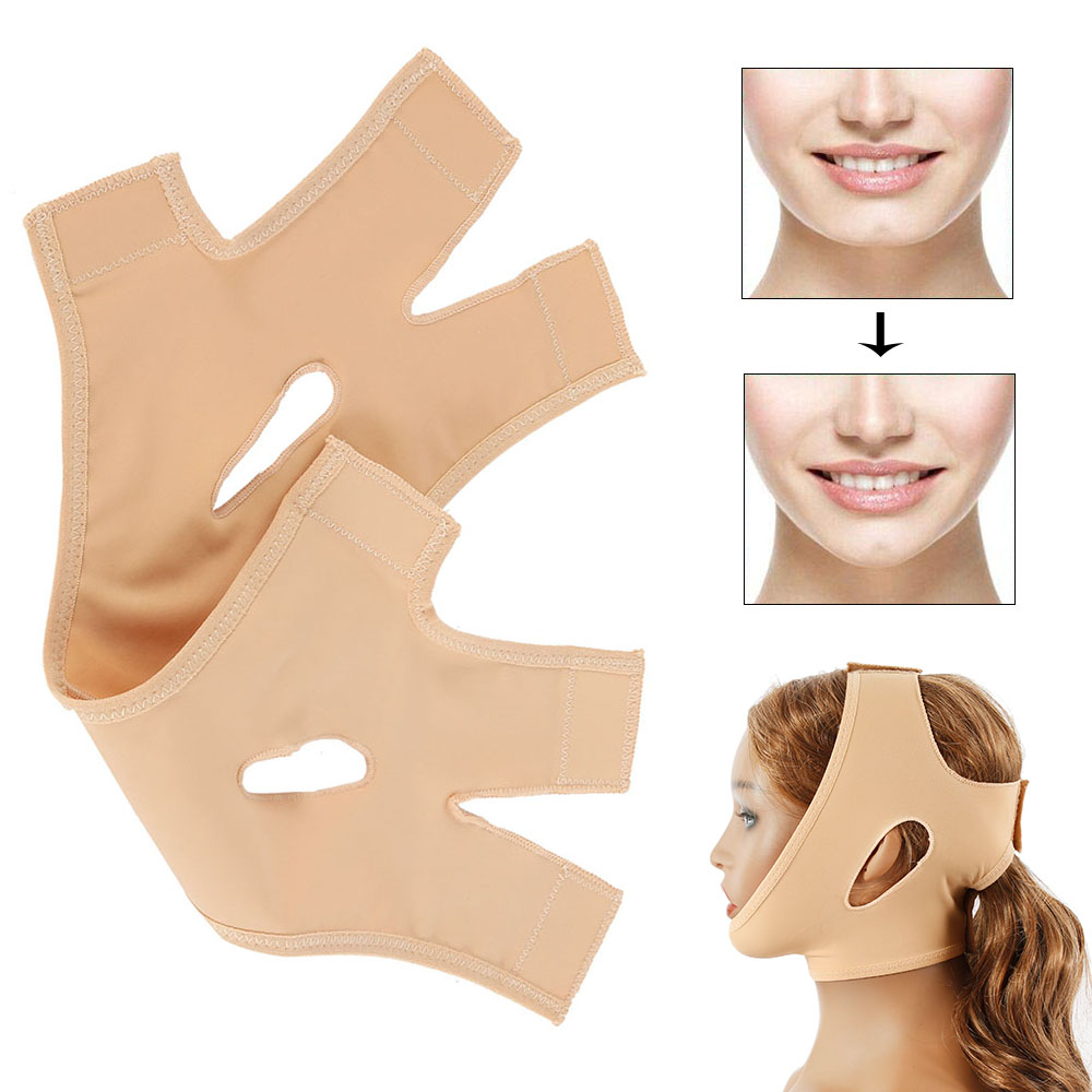 Facial Lift Thin Face Mask Slimming Bandage Skin Belt Shape Reduce Double Chin Face Mask Thining Band Parches Para Adelgazar
