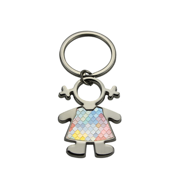 Free shipping metal key ring for sublimation blank keychain for heat transfer blank consumable materials DIY Couples style12/lot