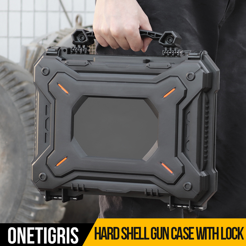 OneTigris Gun Pistol Camera Protective Case + Customizable Foam Watertight Hard Shell Case