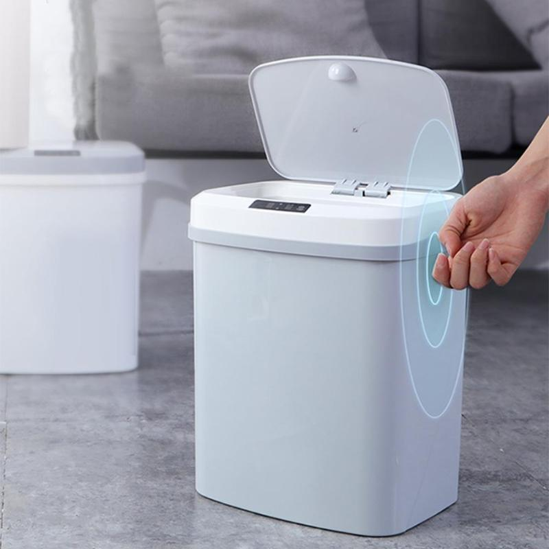 15L Home intelligent Electric Rubbish Trash Can Smart Waste Garbage Bin Automatic Induction Waste Bins Ashbin Kick Trash Can|Waste Bins|Home & Garden - title=