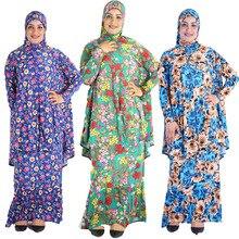12 шт./лот) стиль, Женский кафтан, мусульманский принт, хиджаб «хиджаб» из двух предметов, большой хиджаб с юбкой, молитвенная одежда YM029