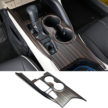 Car Interior Peach Wood Decoration Sticker Center Console Gear Shift Box Panel Cover Trim For TOYOTA CAMRY 2018-2020 Panel Frame anti scratch car center console control gear panel kit interior trim protective film sticker for volvo xc90 2017 accessories