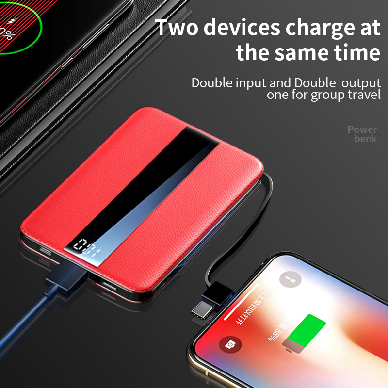 WK Portable Mini 10000mAh Power Bank With LED Display for iPhone 11 Pro Xiaomi Mi 1