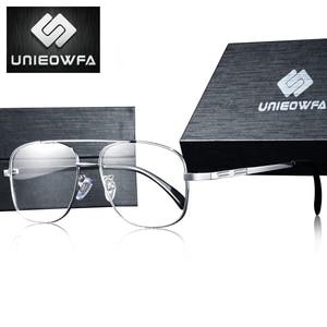 Image 2 - High Quality Prescription Frame Glasses for Men Transparent Clear Eyeglasses Frame Optical Myopia Spectacles Pilot Style 2019