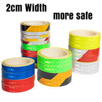 8m*2cm width Fluorescent MTB Bike Bicycle Cycling Motorcycle Reflective Stickers Strip Decal Tape Safety Waterproof