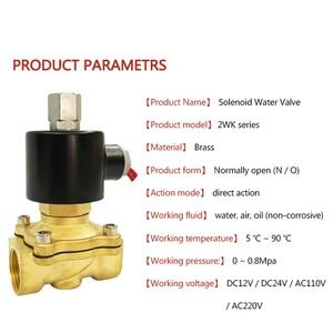 "Image 3 - 1/4"" 3/8"" 1/2"" 3/4"" 1"" Electric Solenoid Valve DN08 DN10 DN15 DN20 DN25 normally open Pneumatic Water Oil Air 12V/24V/110V/220V"