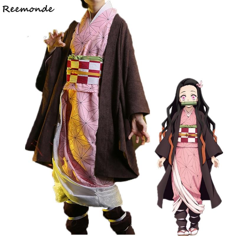 Demon Slayer: Kimetsu No Yaiba Zenitsu Cosplay Costume Kamado Tanjirou Kimono Agatsuma Zenitsu Uniform Synthetic Wigs Men Boys