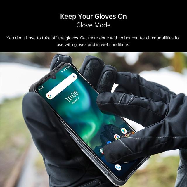 "Umidigi bison 6gb/8gb + 128gb nfc ip68/ip69k telefone áspero impermeável 48mp quad camera 6.3 ""fhd + display android 10 smartphones 2"