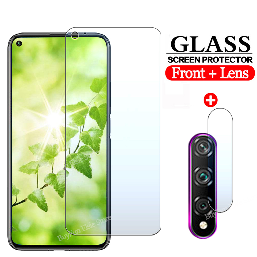 2-in-1 Camera Lens Glass For Huawei Nova 5t Honor 20 Pro 20s Protective Glass On Hawei Nova5t 6.26'' Screen Protector Film Cover