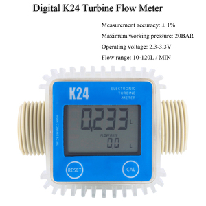Image 2 - Digital K24 Turbine Digital Diesel Oil Fuel Flow Meter Gauge For Chemicals Liquid Water For Chemicals Water Flow Ultrasonic Flow