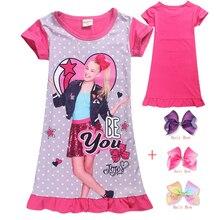 Hair-Bow Nightwear Pyjama Jojo Siwa Print Girls Cotton Kids Dress Sleepwear Lovely