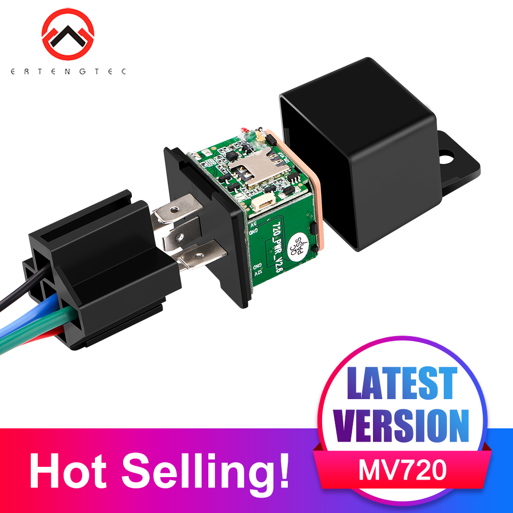 Mini GPS Tracker รถ Tracker Micodus MV720 ซ่อนการออกแบบตัดการใช้ GPS รถ Locator 9-40V 80mAh Shock Overspeed Alert APP ฟรี