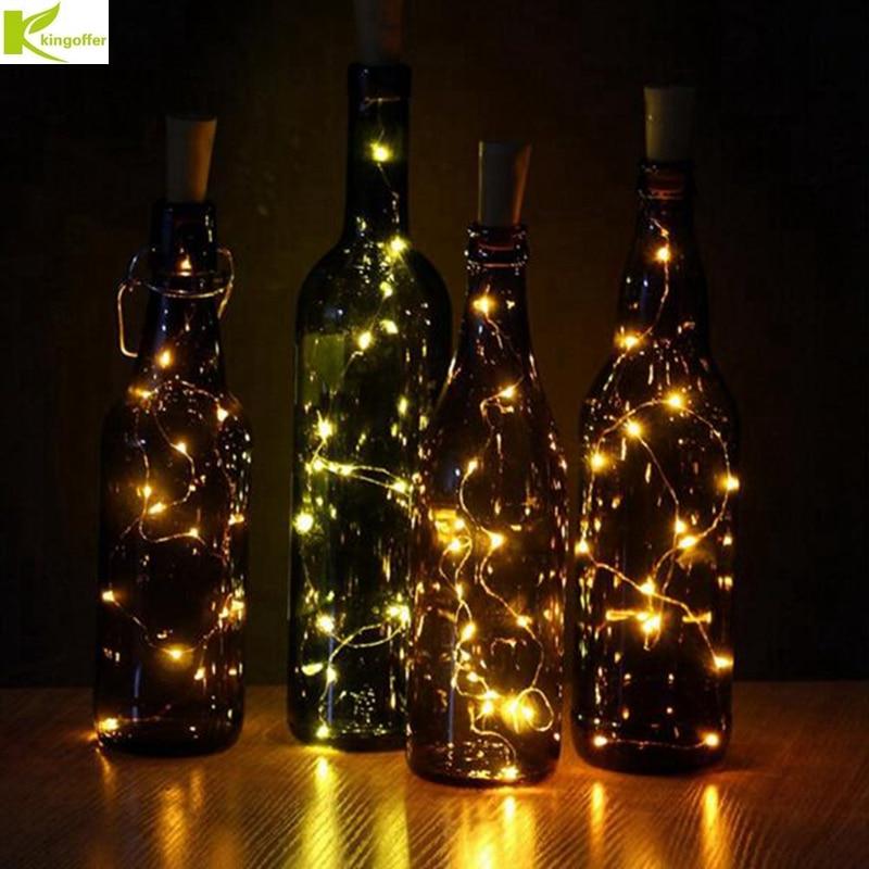 10//20 PCS LED Warm Cool Wine Bottle Cork Shape Night Fairy Lamp String Lights