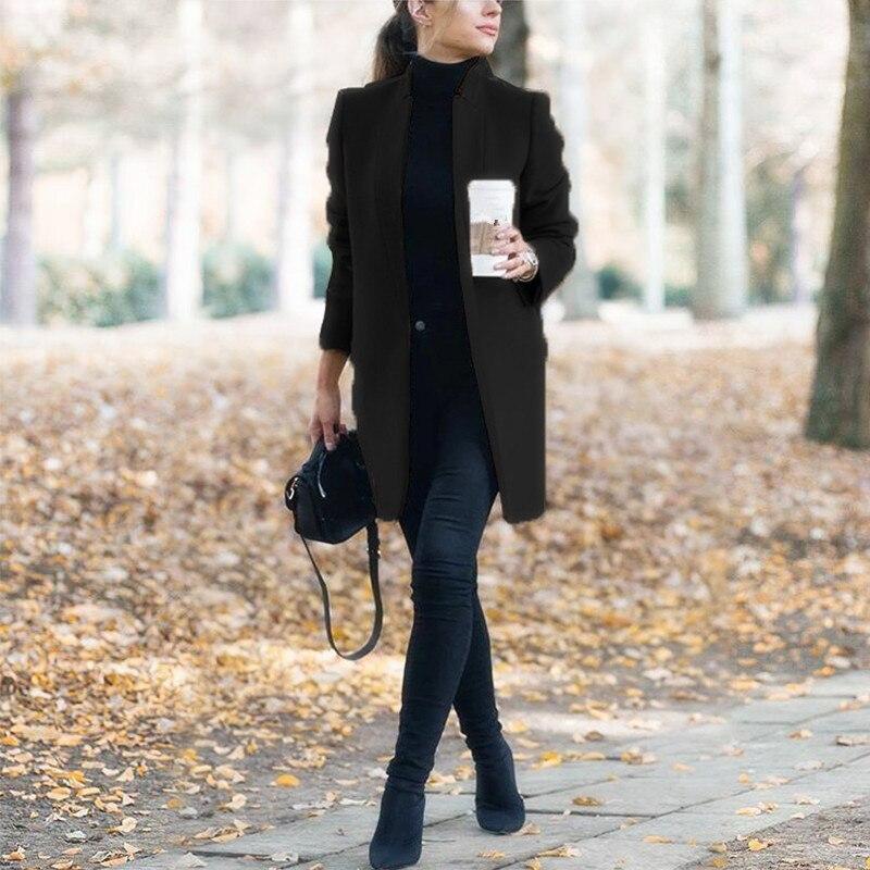 Winter Coats and Jackets Women 2019 Plus Size Long Wool Coat Warm Korean Elegant Vintage Coat