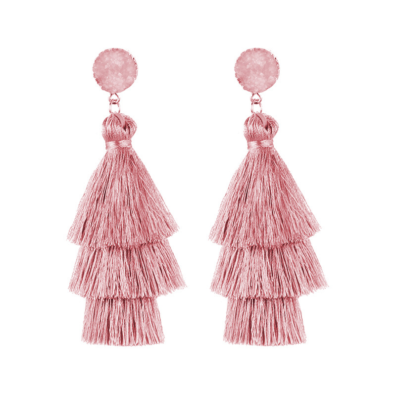 2020 New fashion triple tassel earrings for women trendy bohemian style earrings senior jewelry best gift for women