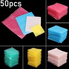 50 pièces/ensemble transparent sac à bulles enveloppe de protection Double Film mousse sacs d'emballage amorti couvre enveloppe de paquet antichoc